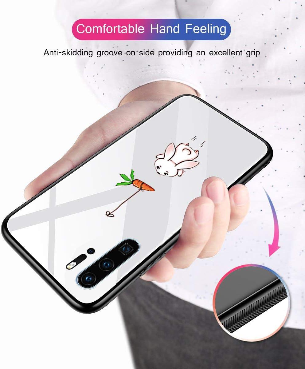carotte de lapin Arri/ère avec cadre en silicone souple Verre tremp/é Antirayures Coque douce pour Huawei P30 Pro Transparent Motif animal Alsoar Coque de rechange pour Huawei P30 Pro