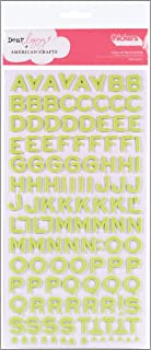 American Crafts Thickers Foam Letter Stickers, Fantastic Limeade