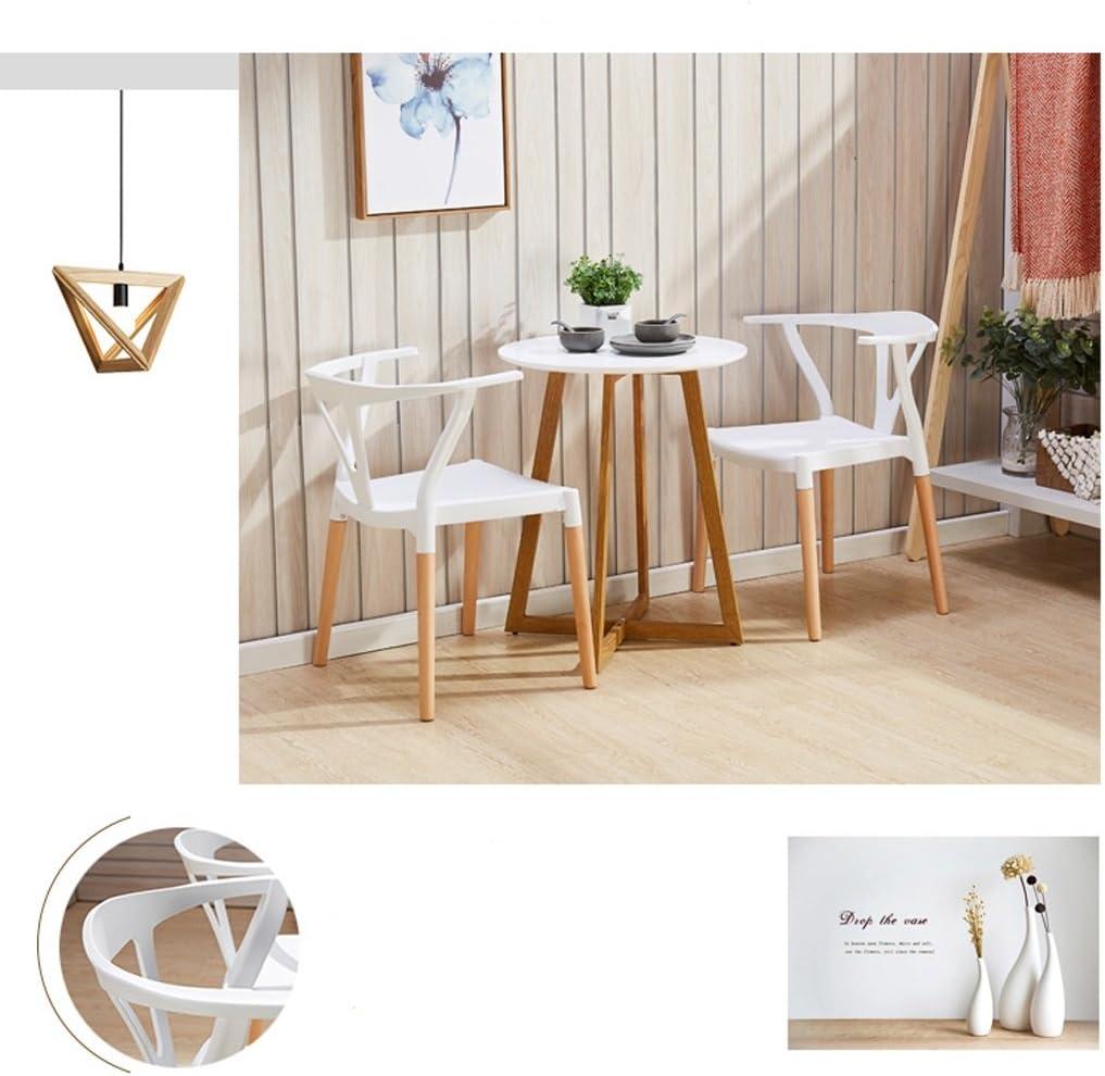 HXF- Chaise en Bois Massif Restaurant Chaise Minimaliste Moderne créative Durable (Color : B) D