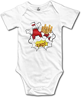 YPZOOS Pink Bird Baby Girl Summer Clothes Short Sleeve Onesies Romper Home Outfit
