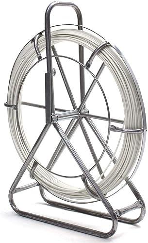 Yongse Fish Tape Fiberglass Fiberglass Wire Running Rod Rod Duct Rod Rodder Fishtape Puller 10mmx80m