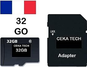 Tarjeta de Memoria Compatible con Cloudfone Go SP, CEKA TECH® Micro-SD 32GB Clase 10 con Adaptador SD