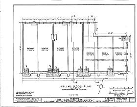 Historic Pictoric Blueprint Diagram HABS RI,4-PROV,33- (Sheet 1 of 20) - Granite Block, 6-18 Market Square, Providence, Providence County, RI 44in x 32in