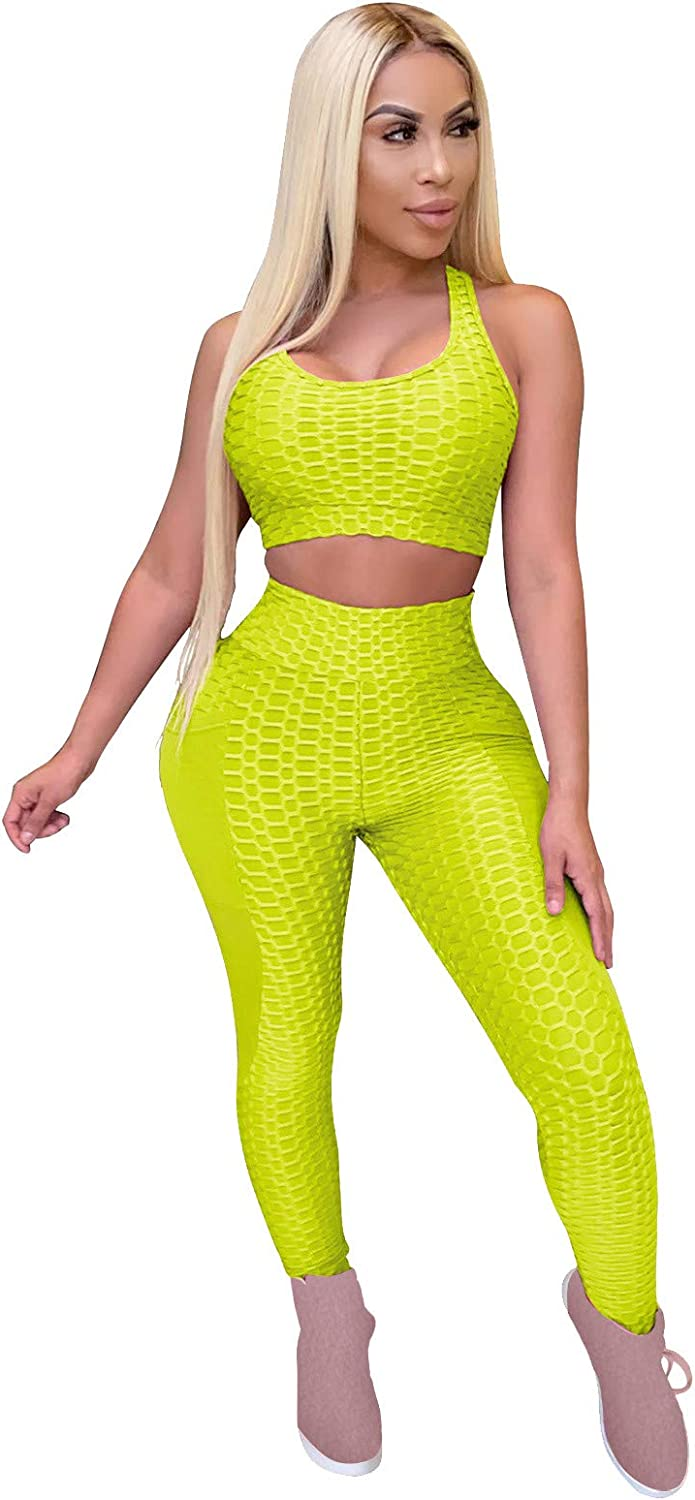 FRSH MNT High Waisted Leggings for Women Sexy L-Shaped Vest Yoga Pants Suit Butt Lifting Tummy Control Yoga Pants