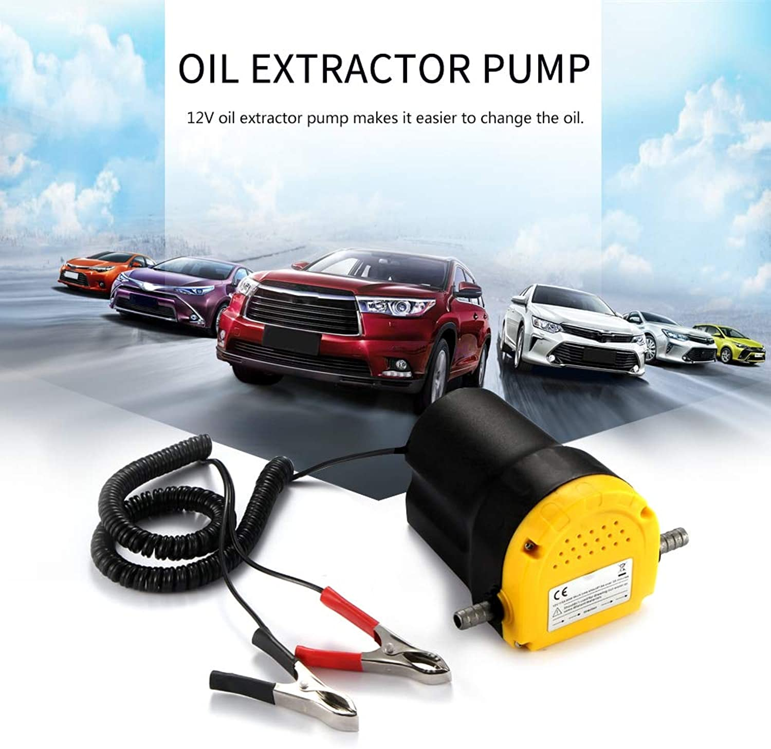 AoforzBrand Professional Electric Oil Pump Scavenge Suction Transfer Change Pump 12V Motor Oil Diesel Extractor