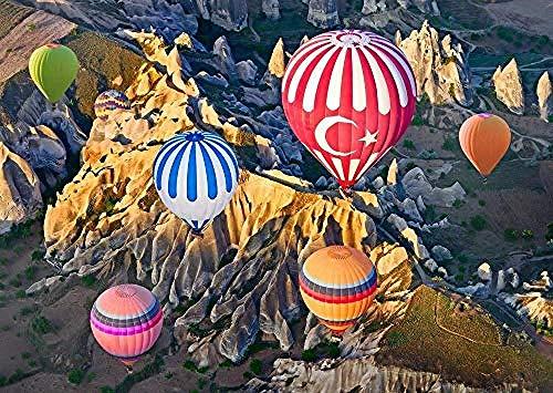 WXLSL Puzzle Puzzle 1000 Stück in Kappadokien Luftballons Puzzle Pädagogisches Holzspielzeug für Erwachsene Kinder Kinder Spiele Geschenke