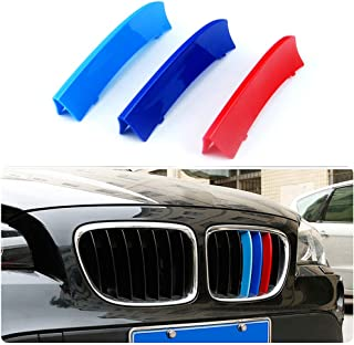 11 Gitter F/ür 04-10 5 Serie E60 3 Colors M Styling Front Grille Trim Strips Cover Stickers 3St/ück