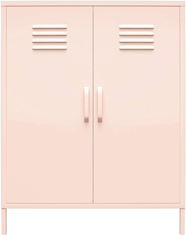 REALROOMS All items free shipping Shadwick 2 Las Vegas Mall Door Metal Cabinet Locker Pink Storage