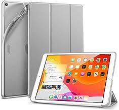 ESR iPad 10.2 ケース 第7世代 2019秋発売 TPU ソフトカバー 半透明 ラバーコーティング オートスリープ/ウェイク フレキシブルTPU背面 スタンドケース 鑑賞/タイピングスタンド iPad 10.2インチ 第七世代用 スリムスマートケース(グレー)
