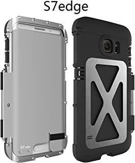 For Galaxy S7 Edge Case ,Samsung Galaxy S7 edge Metal Case ,Heavy Duty Dustproof Shockproof Dropproof Stainless Steel With PC Flip Case Cover Defender For Samsung Galaxy S7 Edge