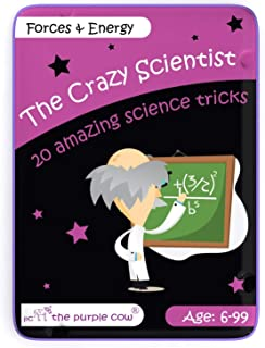 The Purple Cow- The Crazy Scientist Science Tricks Card Set, Forces and Energy, Science Experiment kit for Kids Both Boys ...