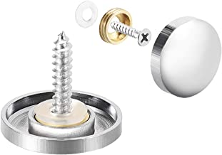 """uxcell Mirror Screws, Decorative Cap Fasteners Cover Nails, Electroplated, Bright Silvery 22mm/0.87"""" Brass 12pcs"""