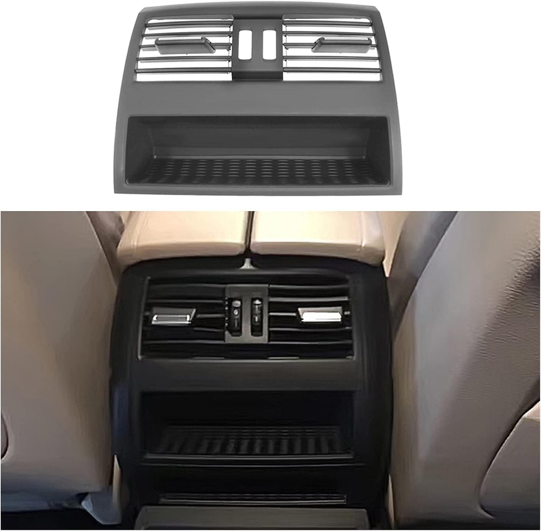 CLEIO Cubierta de ventilación de Aire de la Consola del Centro Trasero Ajuste para BMW F10 520D Ventilador de Aire Fresco de ventilación Grille para BMW 530D F10 F18 525D 535D 5 Series