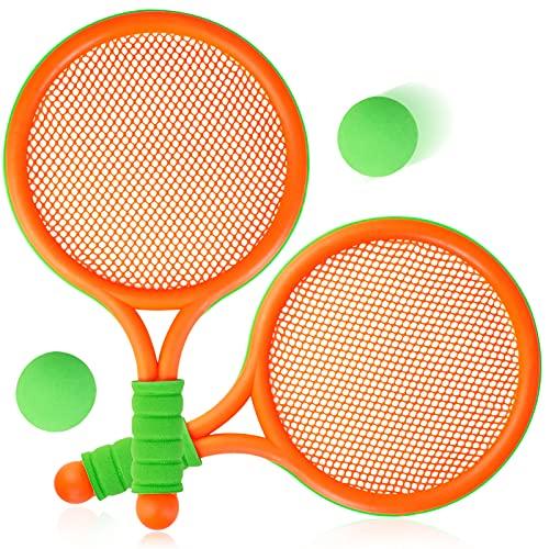 COSYOO Racchetta Tennis Bambino Plastica Racchette Badminton con Due Palline Tennis Giochi da Allaperto Giardino per Ragazzi e Ragazze