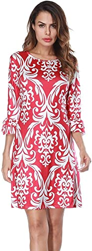 REFaño Five-Point Sleeves do Not Position Printed Dress