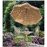 240cm tropischer hawaiianischer Tiki-Regenschirm im Freien Strohdach-Terrassenschirm-Neigungs-Stroh-runder Hula-Strand-Regenschirm