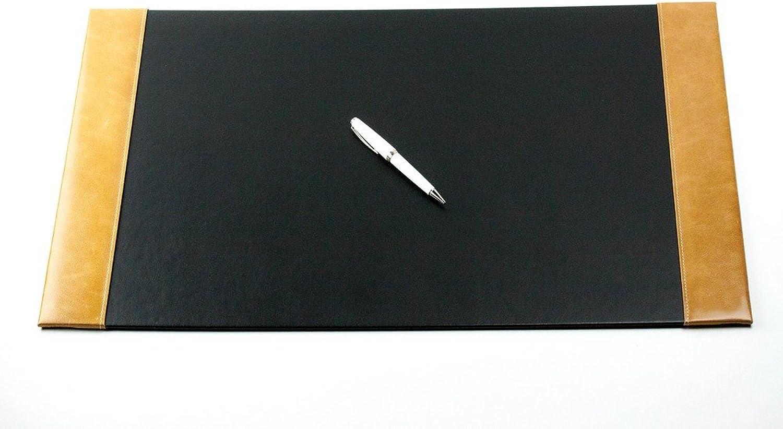 Schreibunterlage mit 2 Seitenleisten PREMIUM LEDER VINTAGE Anilin cuoiobraun B071RG5WLC   | Viele Stile