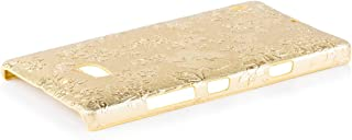 iCues   Compatible with Nokia Lumia 930   Chrome Flower Case Gold   [Screen Protector Included] Floral Cover Crystal Diamo...