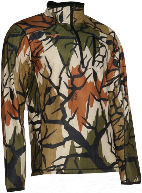 Predator Camo Mens Grid Fleece Perform Zip, Spring Green