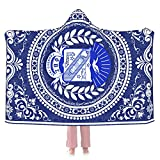 Africa Phi Beta Sigma Hooded Blanket Super Soft Warm Oversized Wearable Blanket for Adults Kid Home Decor Fleece Hoodie Throw Blankets