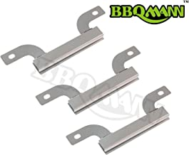 BBQMANN AJ425(3-pack) Stainless Steel Cross-over Tube Burner Replacement for Select Gas Grill Models by Brinkmann, Charmglow and Others (7 9/16