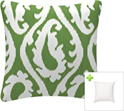 FBTS Prime Outdoor Decorative Pillows with Insert Green Patio Accent Pillows Throw Covers 18x18 Inches Square Patio Cushio...