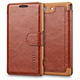 Mulbess Coque pour Sony Xperia Z3 Compact, Etui Sony Xperia Z3 Compact Cuir avec Magnetique, Layered Housse Protection pour Sony...