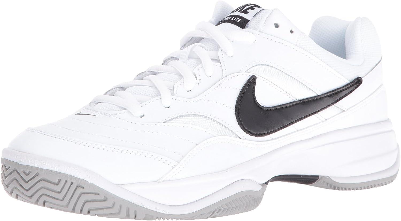 Nike Men's Court Lite Tennis shoes, (White Black Medium Grey 100), 6 UK