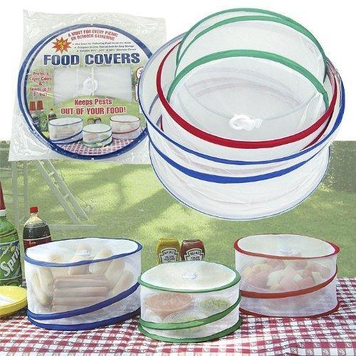 Oker - Pop-up alimentos cubiertas set de 3 grandes para picnic / barbacoa u otras reuniones al aire libre