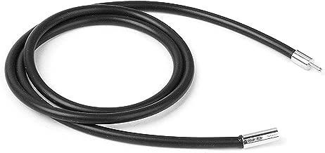 zcsmg 2mm cuerda de goma collar con cierre de acero inoxidable de moda para hombres (negro)