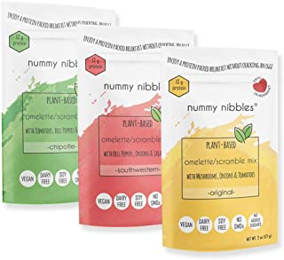 Plant Based Omelet/Scramble Mix with veggies (3 x 2 oz Packs)|Variety Pack|No Eggs,Vegan,Soy Free,Gluten Free