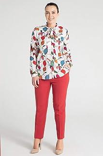 Pera-Kadın Flar Özellikli Gömlek - Turuncu