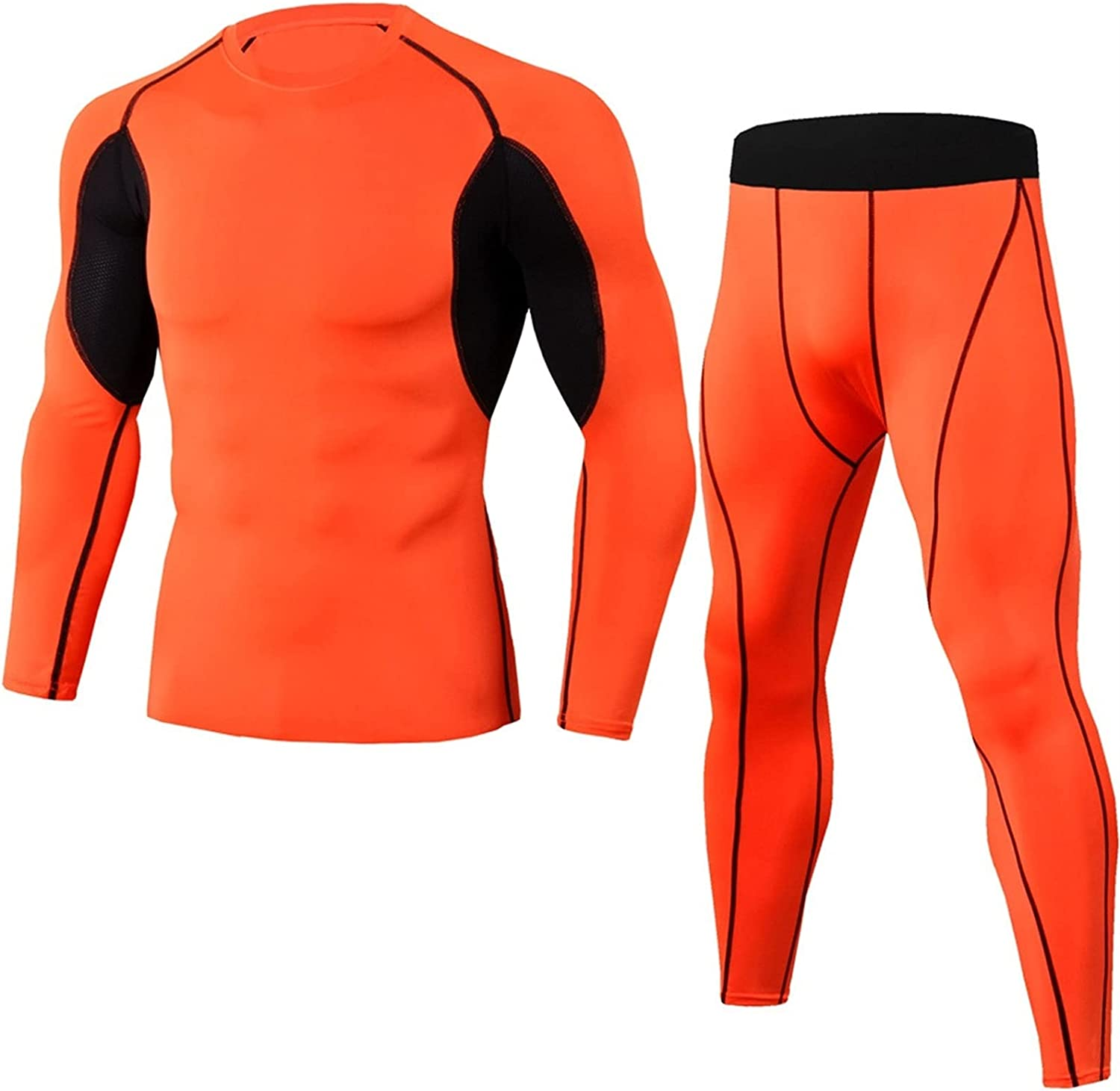 GELTDN Thermal Underwear Comfortable and Breathable Basic Layer Thermal Underwear Sports Bottomed Tights Shirts Tights (Color : E, Size : XL Code)