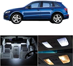 SCITOO 14Pcs White Interior LED Light Package Kit Replacement Bulbs Fits for AUDI Q5 2009-2017