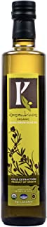 Kasandrinos 500 ML Bottle Organic Extra Virgin Greek Olive Oil - 2019 Winter Harvest - NonGMO Keto Paleo, 100% Organic First Cold Pressed, Single Sourced from Greece Robust moisturizing