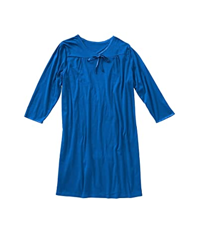 Silverts Plus Size 26120 Open Back Nightgown Assisted Dressing