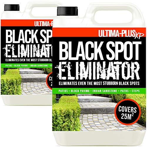 Ultima-Plus XP Black Spot Eliminator for Patio, Stone, Block Paving, Indian Sandstone, and More - Easy to Use Fluid for Stubborn Dirt & Grime (10 Litres)
