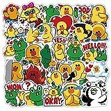YOUKU Pequeño Pato Amarillo y Rana Pegatinas Lindo Mini decoración de Papel DIY álbum Diario Scrapbooking Pegatina Etiqueta Graffiti 40 unids/Set