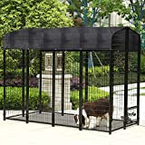 Outdoor Large Dog Kennel Covers Pet Crate Cage Cover Sun Shades 6 X10 Ft Black
