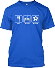 HotScamp Premium Quality Eat Sleep Blues Mens Blue Football City Fan Gift T-Shirt - Sizes XS - 3XL