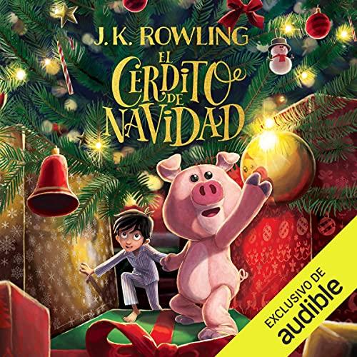 Diseño de la portada del título El cerdito de Navidad