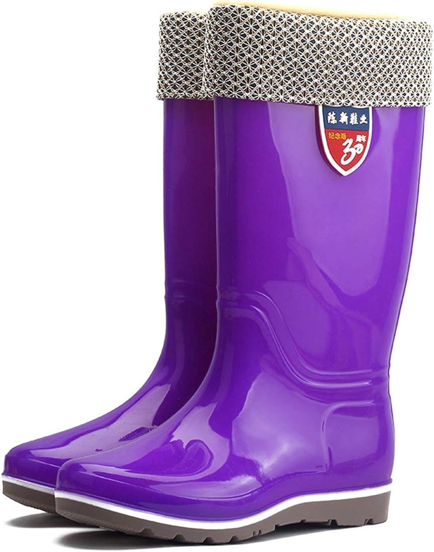 Super color Women Waterproof Printed Tall Rain Boot Multiple Styles