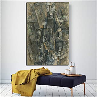Pablo Picasso Man With a Clarinet Wall Art Canvas Painting Poster Prints Pintura moderna Imagen de pared para sala de estar Decoración del hogar -60x90cm Sin marco
