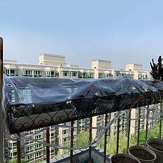 YLJYJ Lona Pesada, PVC Transparente Vidrio Suave Impermeable Antienvejecimiento Cubierta de Polvo para Exteriores con Orificio de Metal 0.3 mm, 45 tamaños (Color: Transparente, Tamaño: 1.6x7m)