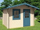 Casa de jardín MONIKA – A28 Caseta de madera cobertizo 320 x 200 cm – 28 mm