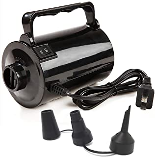 Gifts Sources Electric Air Pump for Inflatable Pool Toys - High Power Quick-Fill Air Mattress Inflator Deflator Pump for Pool Float Raft Airbed with 3 Nozzles, 320W, 110V AC, 1.6PSI, Air Flow 26CFM