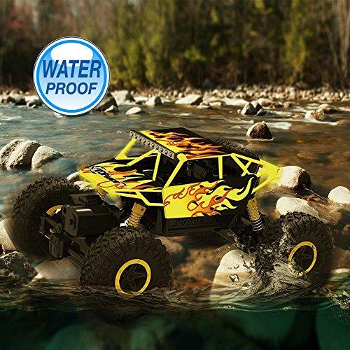 RC Monstertruck kaufen Monstertruck Bild 1: Top Race Ferngesteuerter Monster Truck RC Rock Crawler, 2,4 GHz Sender, 4WD Off Road RC-Auto - TR-130Y*