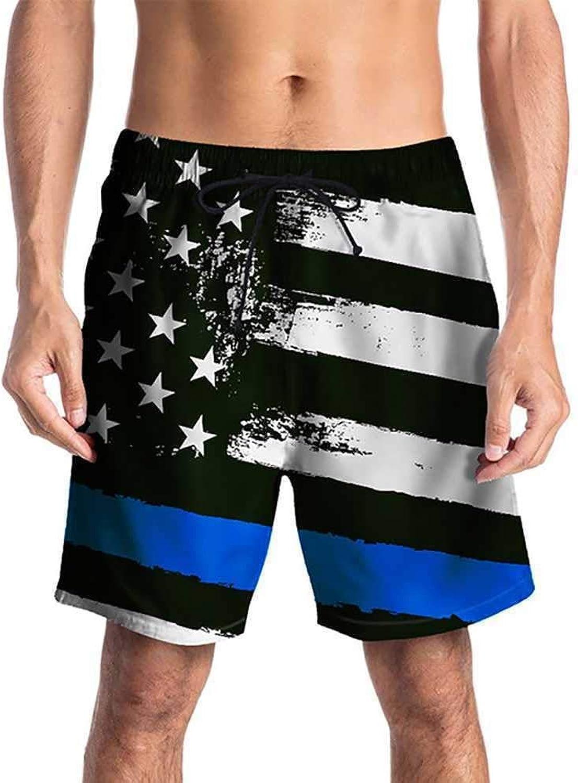 Aomoto Men Surf Swim Trunks Beach Shorts Quick Dry Drawstring Adjustable Waist HalfLength Swim Pants  46