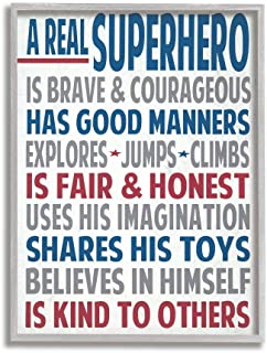 Sponsored Ad - Stupell Industries Typography Plaque, A Real Superhero Grey Framed Wall Art, 16 x 20, Design by Artist Word...