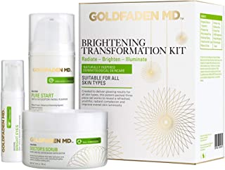 Brightening Transformation Kit - Advanced Skin Care Regime including Exfoliator, Cleanser & Eye Cream